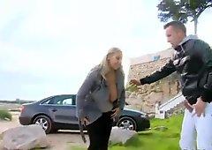 Czech babe Cristal Swift boned in public