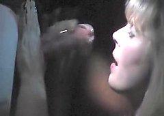 Large ramrod blown in a porn cinema