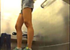 Vestidores Chinita Flaquita Asian Teen Short