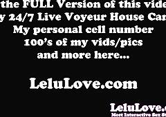 Lelu Love-Leather Leggings Crotch Humping Masturbation