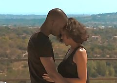 African Ebony Couple Explore Love