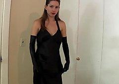 Classy glamorous dress, but slutty hardcore creampie!!