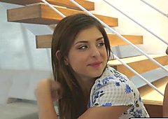 Leah Gotti gets fucked while licking milf Eva Longs pussy