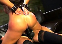 FetishNetwork Alexa Pierce rides strapon dildo