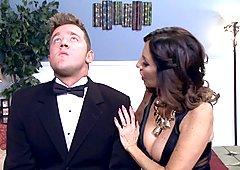 Tara Holiday fucks a toyboy groom before his wedding