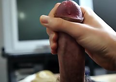 ejaculation with spit of woman