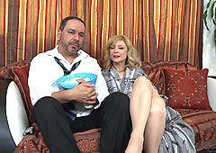 Naughty Nina Hartley gets her husband watching her fucking