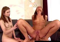 Euro babes suck dick and get asses fucked in hardcore t