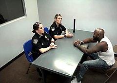 Amateur blonde teen and black Milf Cops