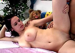 Versatile slutty brunette Mona rides a dick like a mad one to reach orgasm