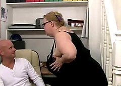 BBW Granny Fucks Her Underling