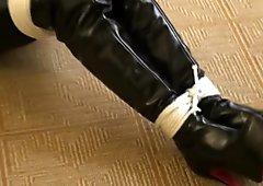 Hannah Boots hogtied