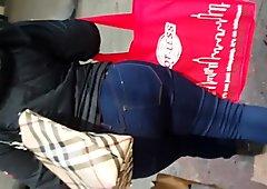Ghetto Big Booty Milf Latina In Dark Blue Jeans