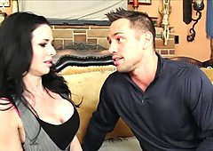 Alluring babe Veronica Avluv is sucking cock deepthroat