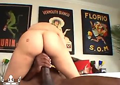 Redhead Gets Tight Pussy Pounded By Huge Black Dick