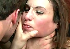 Slender brunette Amber Rayne gets fucked by group of horny masters