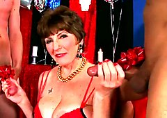 Mature Gets Two Dicks as a Present