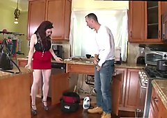 Tattooed brunette squirting xxx The Plumber