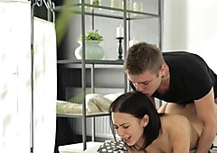 Teeny Lovers - Teen fucking with a creampie