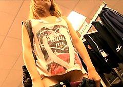 petite public masturbation in shopping mall
