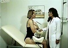 Busty slutty bitch is gonna seduce shy gynecologist