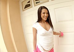 Samia Duarte gets a load of sperm inside her on All Internal