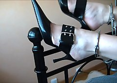 Mature woman chained