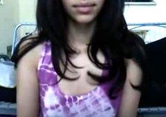 Beautiful Arabian teen shows her yummy pussy on webcam