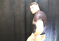 Muscled Lycra man temptation