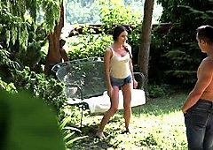 Petite Anita Bellini feels herself in paradise