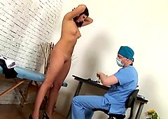 Young lady examined by gynecologist