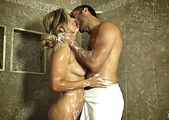 Smoking hot shower time with Cameron Dee