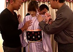 Kanako Iioka in Modern Kimono Nakadashi Fuck part 5