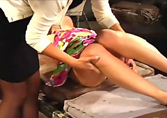 Mistress unpacks her freshly delivered slave whore