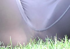 Jeny Smith public transparent yoga pants camel toe