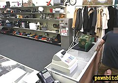 Big tits blonde babe nailed by pawn guy at the pawnshop