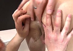 Rimmed stud cumswapping with old man