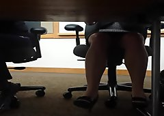 Upskirt under the table