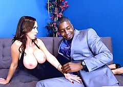 Giant boobs woman asshole fucked by massive black cock