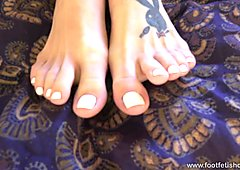 Natasha Strips Off Her Undies and Gets Feet Worshipped