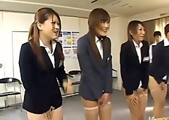 Japanese babes take their clothes off and crave for sex