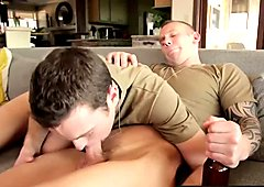 Hot military hunks Brandon Moore and Damien Michaels ramming