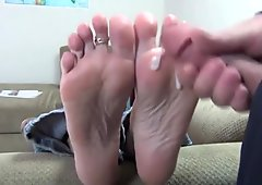 BARE FOOT & Mature Cum Soles
