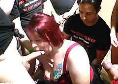 Sexy BBW babe KIM gets her mouth fucked