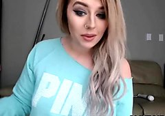 Tattooed canadian Kelly_KissesXXX with butt plug masturbates ALIVEGIRL