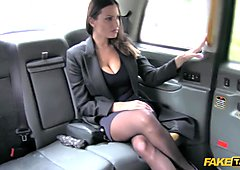 Back seat fucking for hot Romanian babe (