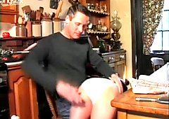 Dirty wife gets her  palatable butt spanked
