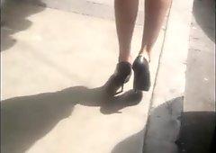 Sexy legs on the street