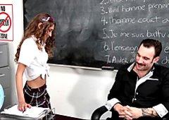 Petite Schoolgirl Banged In The Classroom