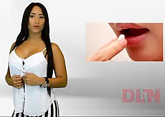 Naked presenters from Venezuelan DLN TV - very sexy stripping headline news